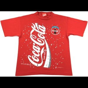 1994 CocaCola All Over Print Graphic Single Stitch